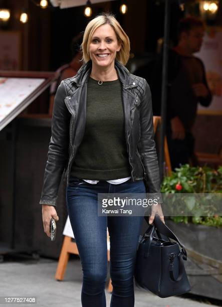 Jenni Falconer seen leaving Global Radio Studios in Leicester Square on September 30 2020 in London England