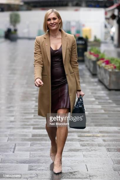 Jenni Falconer seen leaving Global Radio Studios on November 13 2020 in London England
