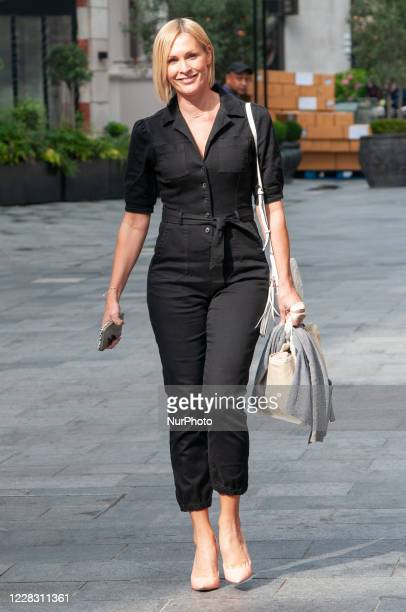 Jenni Falconer seen leaving Global Studios Smooth Radio London UK on 2 September 2020