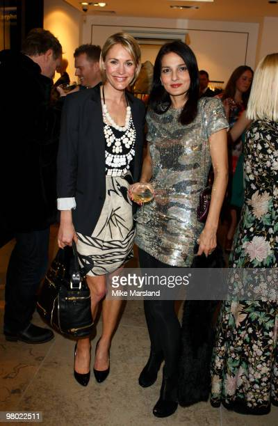 Jenni Falconer Yasmin Mills attend the opening of the ''By Malene Birger'' flagship store on March 24 2010 in London England
