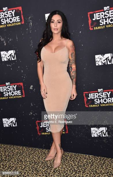 """Jenni Farley attends the Premiere of MTV Network's """"Jersey Shore: Family Vacation"""" at HYDE Sunset: Kitchen + Cocktails on March 29, 2018 in West..."""