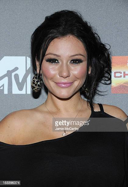 Jenni 'J Woww' Farley attends the 'Jersey Shore' Final Season Premiere at Bagatelle on October 4 2012 in New York City