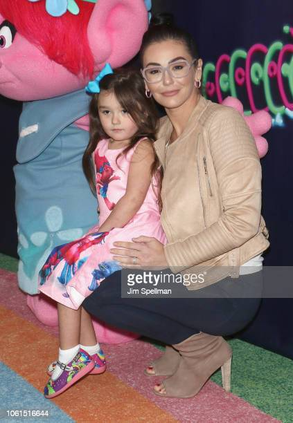 27f9ea3439 Jenni  JWoww  Farley and daughter Meilani Alexandra Mathews attend the Dreamworks  Trolls The Experience. Dreamworks Trolls The Experience Opening