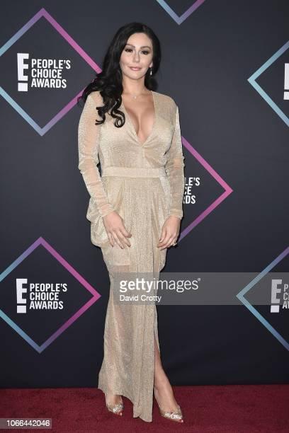 Jenni JWoww Farley arrives at E! People's Choice Awards at Barker Hangar on November 11, 2018 in Santa Monica, California.