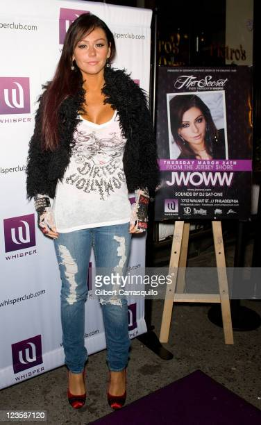 Jenni 'JWoww' Farley attends Club Whisper party hosted by 'JWoww' on March 24 2011 in Philadelphia Pennsylvania