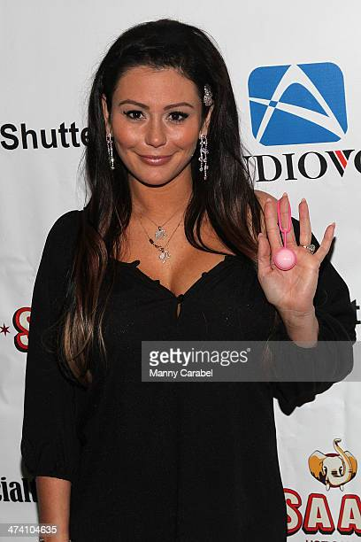 Jenni 'JWOWW' Farley attends her Birthday Celebration at Drunken Monkey on February 21 2014 in the Staten Island borough of New York City