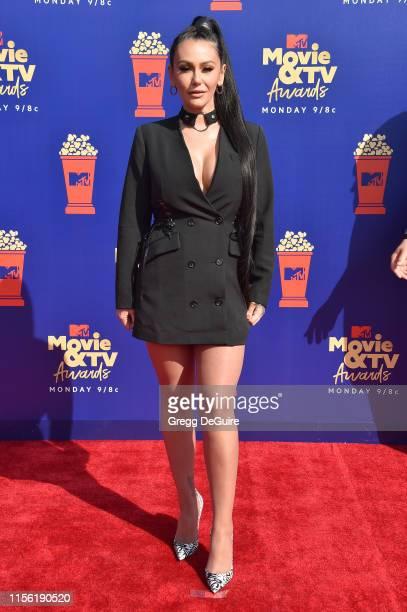 Jenni 'JWoww' Farley attends the 2019 MTV Movie and TV Awards at Barker Hangar on June 15, 2019 in Santa Monica, California.