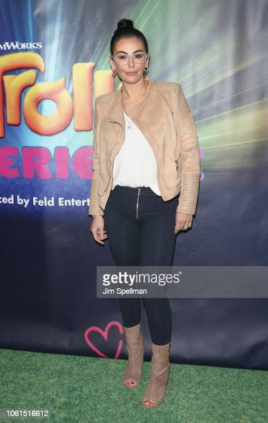 """Jenni """"JWoww"""" Farley attends the Dreamworks Trolls The Experience opening at Trolls The Experience on November 14, 2018 in New York City."""