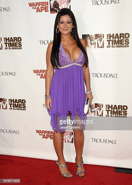 Jenni 'JWoww' Farley attends the MTV series premiere for 'The Hard Times Of RJ Berger' and 'Warren The Ape' at Trousdale on June 7 2010 in West...