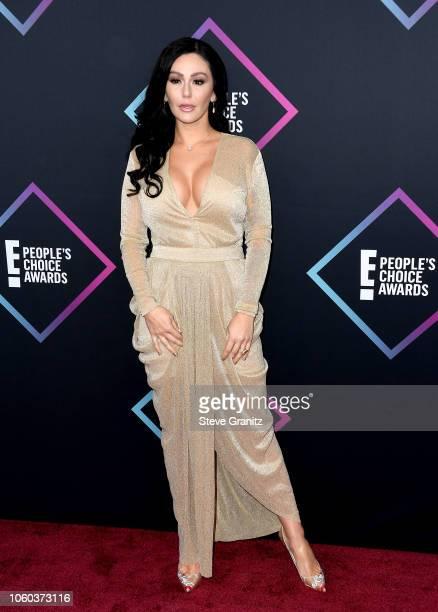 Jenni 'JWoww' Farley attends the People's Choice Awards 2018 at Barker Hangar on November 11, 2018 in Santa Monica, California.