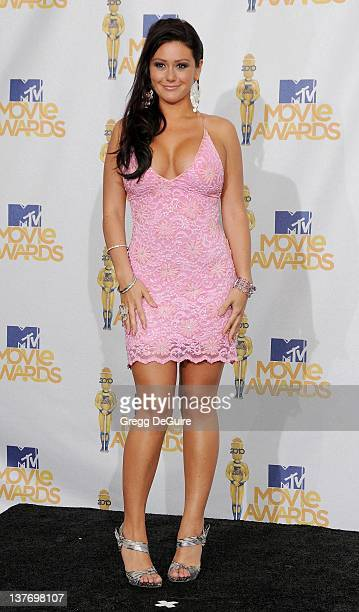Jenni 'JWOWW' Farley in the press room at the 2010 MTV Movie Awards at the Gibson Amphitheatre on June 6 2010 in Universal City California