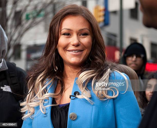 Jenni 'JWoww' Farley visits 'Extra' in Times Square on January 13 2014 in New York City