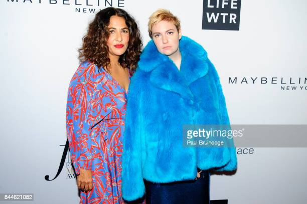 Jenni Konner and Lena Dunham attend Daily Front Row's Fashion Media Awards at Four Seasons Hotel New York Downtown on September 8 2017 in New York...