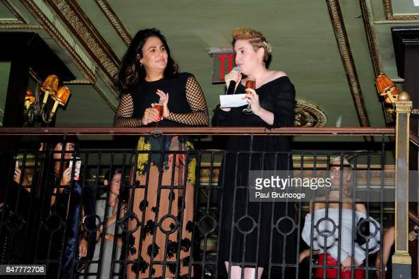 Jenni Konner and Lena Dunham attend the Party for the 2nd Anniversary of Lenny at The Jane Hotel on September 15 2017 in New York City