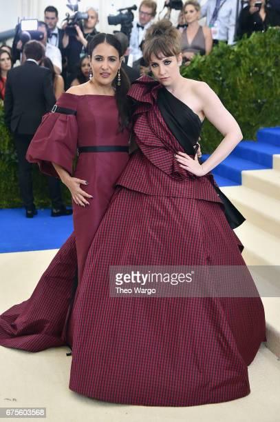 Jenni Konner and Lena Dunham attend the 'Rei Kawakubo/Comme des Garcons Art Of The InBetween' Costume Institute Gala at Metropolitan Museum of Art on...
