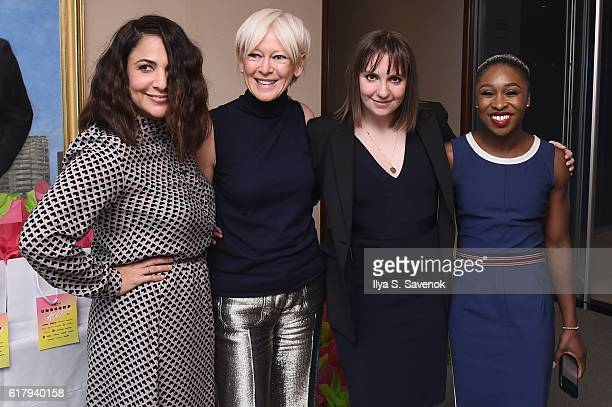 Jenni Konner Joanna Coles Lena Dunham and Cynthia Erivo attends Hearst MagFront 2016 at Hearst Tower on October 25 2016 in New York City