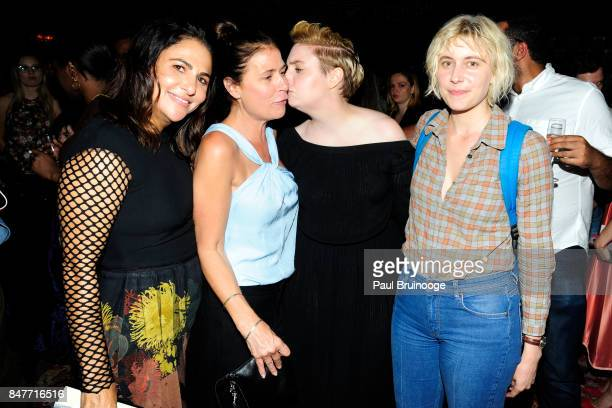 Jenni Konner Maura Tierney Lena Dunham and Greta Gerwig attend the Party for the 2nd Anniversary of Lenny at The Jane Hotel on September 15 2017 in...
