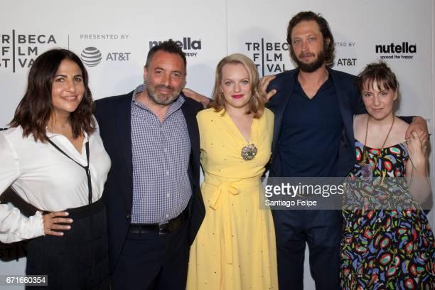 Jenni Konner, Richard Shepard, Elisabeth Moss, Ebon Moss-Bachrach and Lena Dunham attend 2017 Tribeca Film Festival at Regal Battery Park Cinemas on...