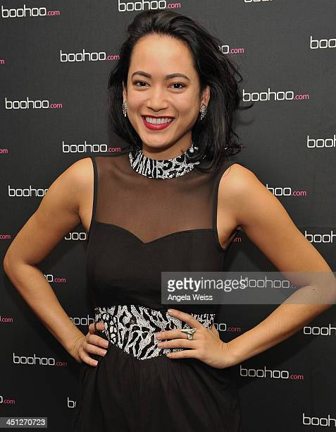Jenni Lee attends the Boohoocom #DRESSMAS Style Suite at the Roosevelt Hotel on November 21 2013 in Los Angeles California