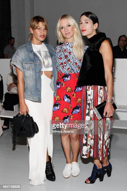 Jenni Lombardo Zana Roberts Rossi and Athena Calderone attend Suno runway show during MercedesBenz Fashion Week Spring 2015 at Center 548 on...