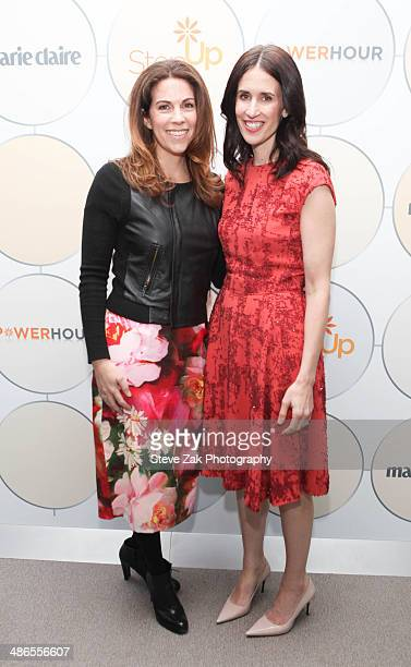 Jenni Luke and Michelle Peluso attend the 3rd annual Power Hour at Hearst Tower on April 24 2014 in New York City