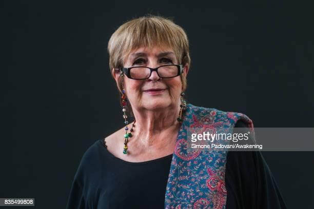 Jenni Murray attends a photocall during the Edinburgh International Book Festival on August 19 2017 in Edinburgh Scotland