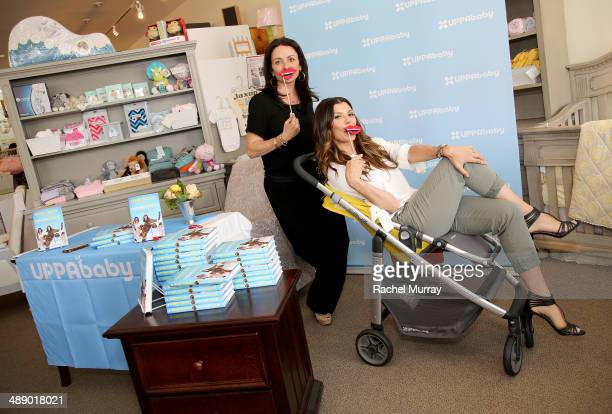 Jenni Pulos and Ali Landry attend UPPAbaby hosts Jenni Pulos instore book signing at Juvenile Shop In Sherman Oaks at Juvenile Shop on May 9 2014 in...