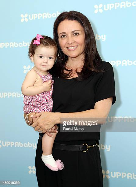 Jenni Pulos and daughter Alianna Nassos attend UPPAbaby hosts Jenni Pulos instore book signing at Juvenile Shop In Sherman Oaks at Juvenile Shop on...