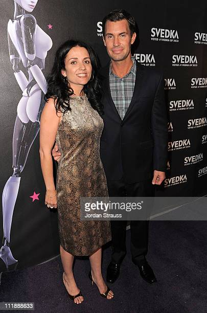 Jenni Pulos and Jeff Lewis attend SVEDKA Vodka's A Night Of A Billion Reality Stars Premiere Event at Lexington Social House on April 7 2011 in...