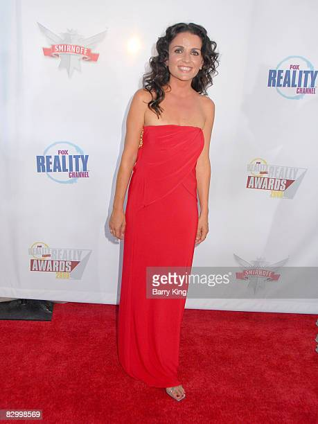 Jenni Pulos arrives at the Fox Reality Channel's Really Awards held at Avalon Hollywood on September 24 2008 in Hollywood California