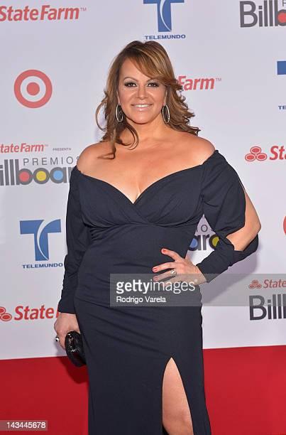 Jenni Rivera arrives at the Billboard Latin Music Awards 2012 at Bank United Center on April 26 2012 in Miami Florida