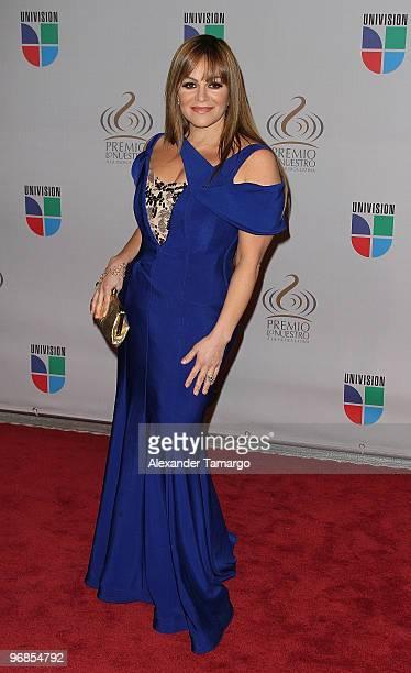Jenni Rivera arrives at Univision's 2010 Premio Lo Nuestro a La Musica Latina Awards at American Airlines Arena on February 18 2010 in Miami Florida
