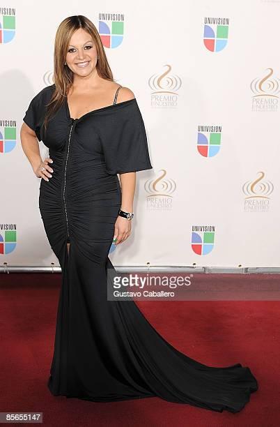 Jenni Rivera arrives at Univision's Premio Lo Nuestro a La Musica Latina Awards at Bank United Center on March 26 2009 in Coral Gables Florida