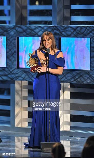 Jenni Rivera on stage at Univisions 2010 Premio Lo Nuestro a La Musica Latina Awards at American Airlines Arena on February 18 2010 in Miami Florida