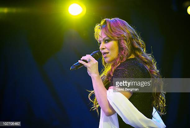 Jenni Rivera performs at 2010 Lilith Fair at Cricket Wireless Amphitheatre on July 7 2010 in San Diego California