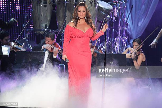 Jenni Rivera performs during Billboard Latin Music Awards 2012 at Bank United Center on April 26 2012 in Miami Florida