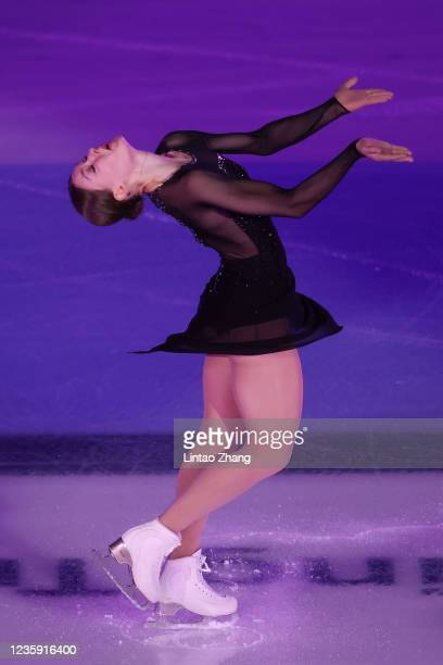 Jenni Saarinen of Finland performs in the gala exhibition during day 4 of the 2021 Asia Open Figure Skating test event for the Beijing 2022 Winter...