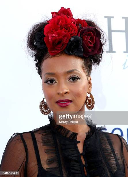 Jennia Fredrique arrives at the 16th Annual Heroes In The Struggle gala reception and awards presentation at 20th Century Fox on September 16 2017 in...