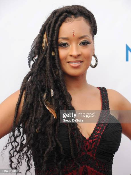 Jennia Fredrique arrives at the 48th NAACP Image Awards at Pasadena Civic Auditorium on February 11 2017 in Pasadena California