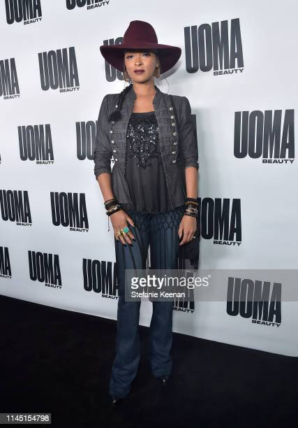 Jennia Fredrique attends UOMA Beauty Launch Event at NeueHouse Hollywood on April 25 2019 in Los Angeles California