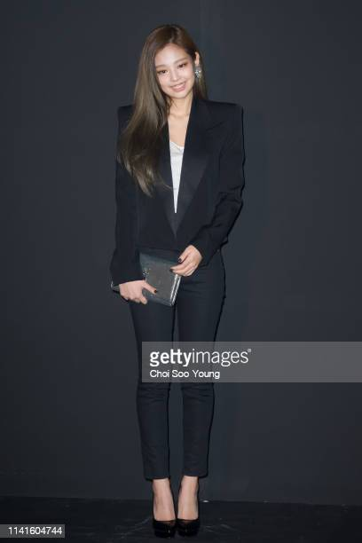 Jennie attends the photocall for 'Saint Laurent by Anthony Vaccarello' on March 27 2017 in Seoul South Korea