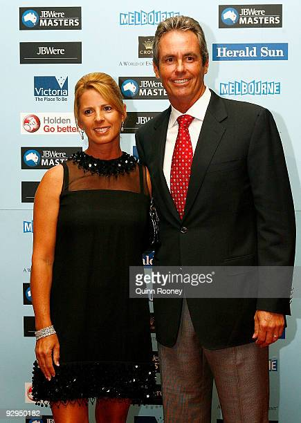 Jennie BakerFinch and Ian BakerFinch pose at the 2009 Australian Masters Gala Dinner at Crown Casino on November 10 2009 in Melbourne Australia