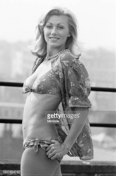 Jennie Beckwith model wearing a Mazurka a cotton voile bikini and coverup designed by Triumph Wednesday 30th August 1972
