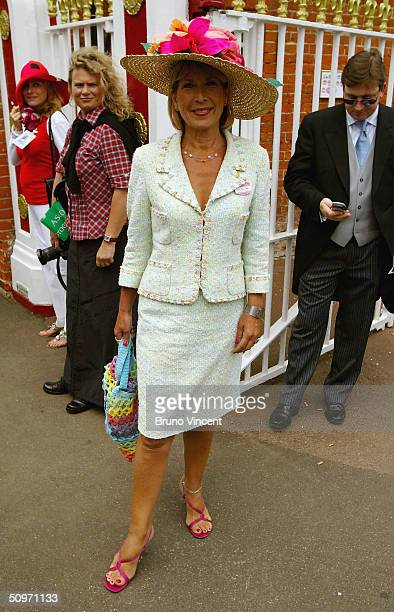 Jennie Bond attends Ladie's Day on the third day of Royal Ascot at the Ascot Racecourse on June 17 2004 in Berkshire England The event has been one...