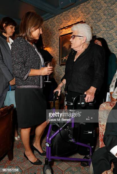 Jennie Churchill and Joy Hunter attend a charity auction held at The Wigmore in partnership with the Royal British Legion to celebrate the release of...