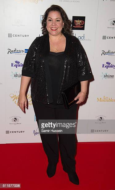 Jennie Dale arrives for the WhatsOnStage Awards at Prince Of Wales Theatre on February 21 2016 in London England