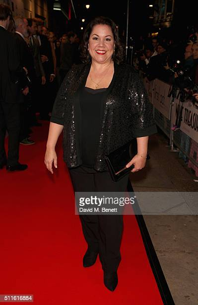 Jennie Dale attends the 16th Annual WhatsOnStage Awards at The Prince of Wales Theatre on February 21 2016 in London England