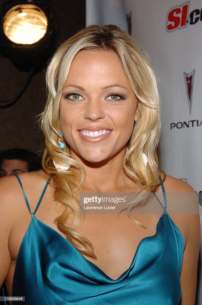 Jennie Finch during Sports Illustrated 2005 Swimsuit Issue - Press Conference at AER Lounge in New York City, New York, United States.