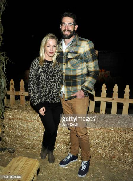 Jennie Garth and Dave Abrams attend the Nights of the Jack launch at King Gillette Ranch on October 10 2018 in Calabasas California