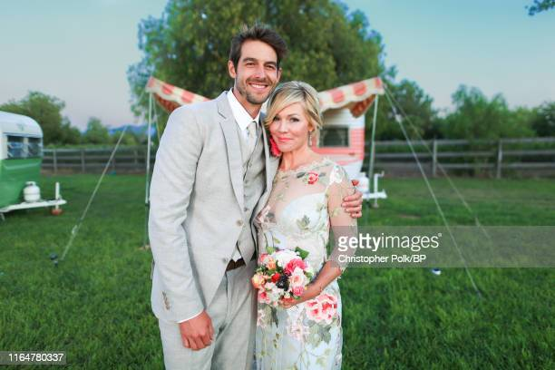 Jennie Garth and Dave Abrams wedding at a private residence July 11 2015 in Santa Ynez California